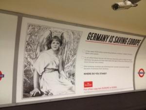 ドイツが欧州を救っている、というFTの広告。